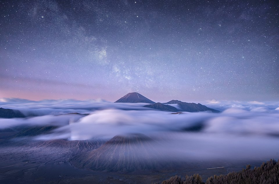 Mt Bromo, an active volcano in East Java, Indonesia