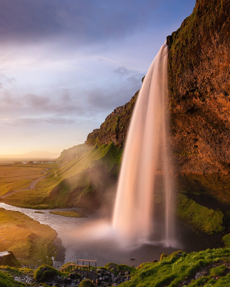Location: Seljalandsfoss waterfall , Iceland