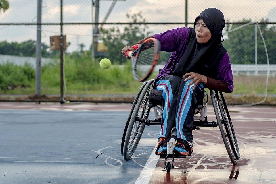 Location: Sultan Agung Stadium Tennis Court, Bantul, Yogyakarta, Indonesia.