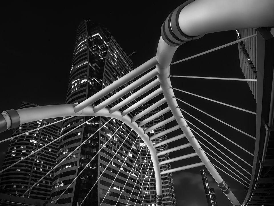 Location: Sathorn footbridge, Bangkok, Thailand