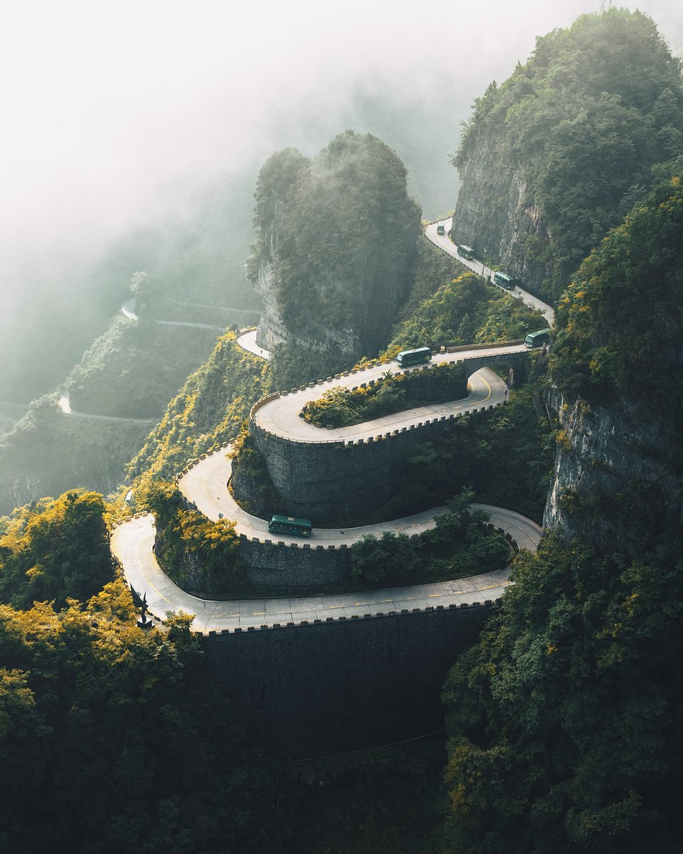 Location: Tianmen Mountain, China