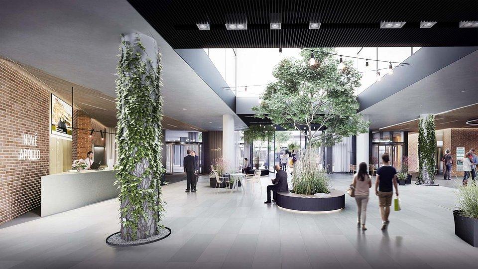 Nové Apollo - vstupná lobby