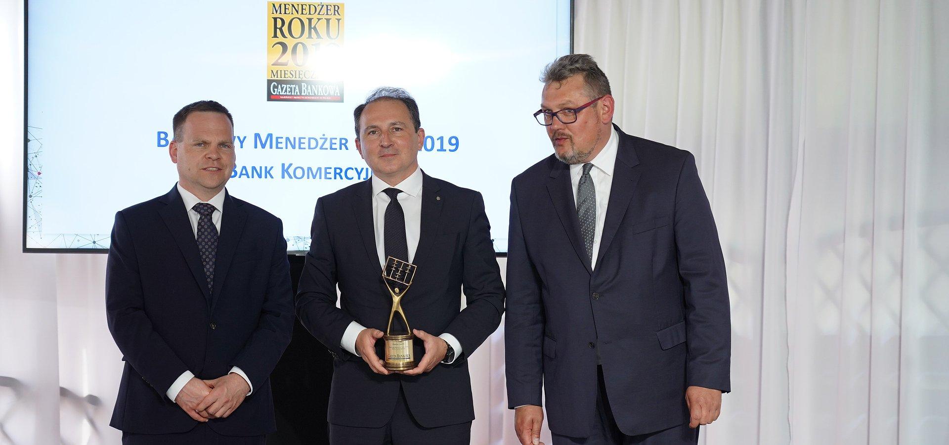 Zbigniew Jagiełło, prezes Zarządu PKO Banku Polskiego Bankowym Menedżerem