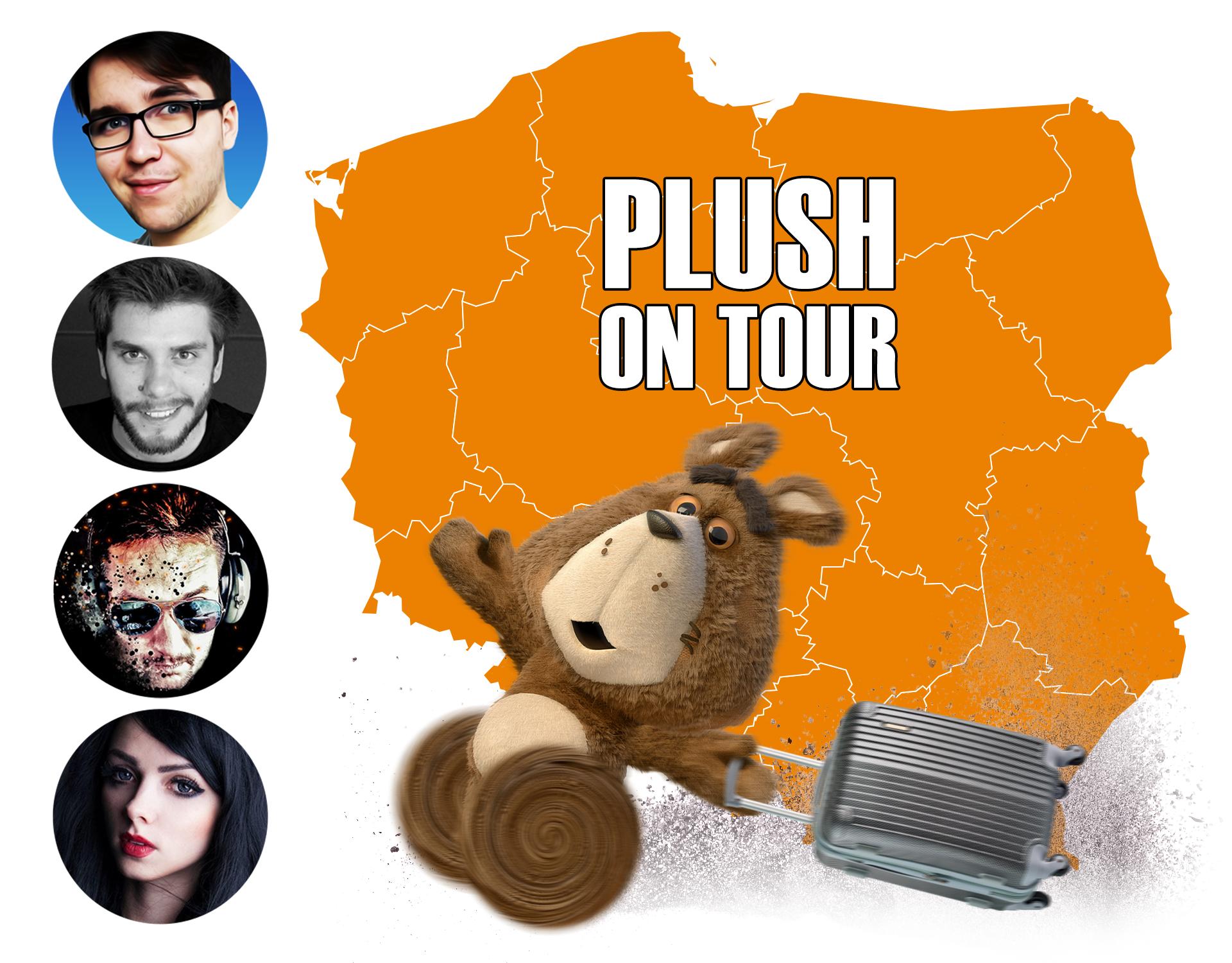 Plush on Tour - infuencerzy zachecają do rejestracji kart w sieci Plush