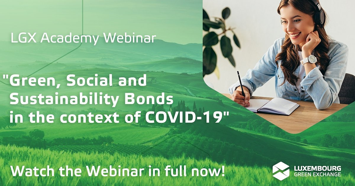Green, Social and Sustainability Bonds in the Context of COVID-19