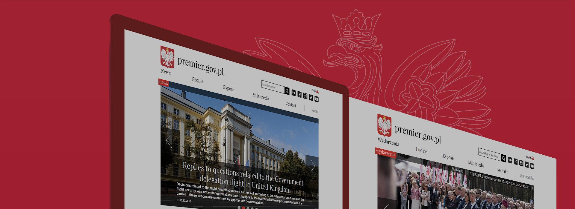 Nowa strona Prezesa Rady Ministrów RP.