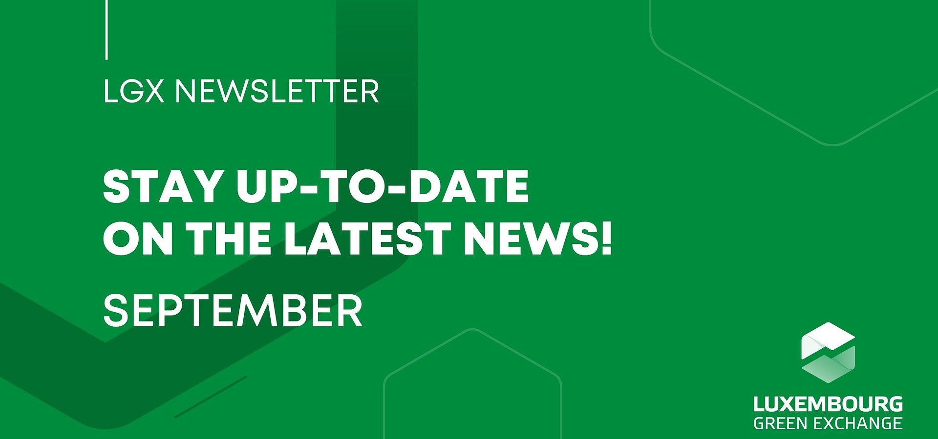 Welcome to the first edition of LGX Newsletter!