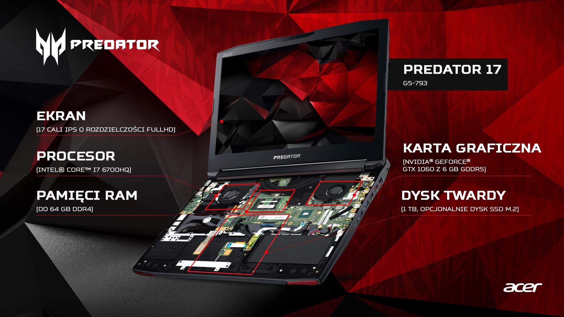 Nowy Predator 17 Z Karta Graficzna Nvidia Geforce Gtx 1060