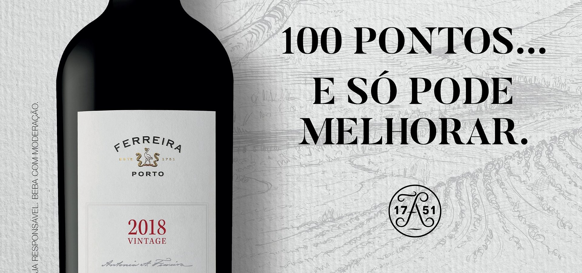 100 PONTOS DA WINE ENTHUSIAST PARA PORTO FERREIRA VINTAGE 2018