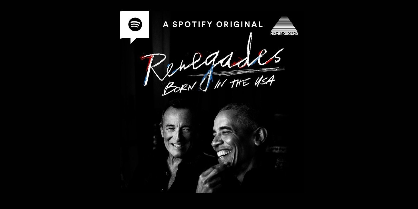 """Higher Ground und Spotify starten neuen Podcast """"Renegades: Born in the USA"""" mit Barack Obama und Bruce Springsteen"""