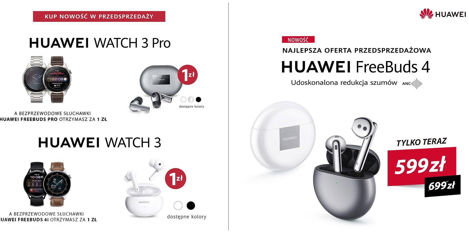 Startuje przedsprzedaż słuchawek i smartwatchy Huawei w Komputronik!