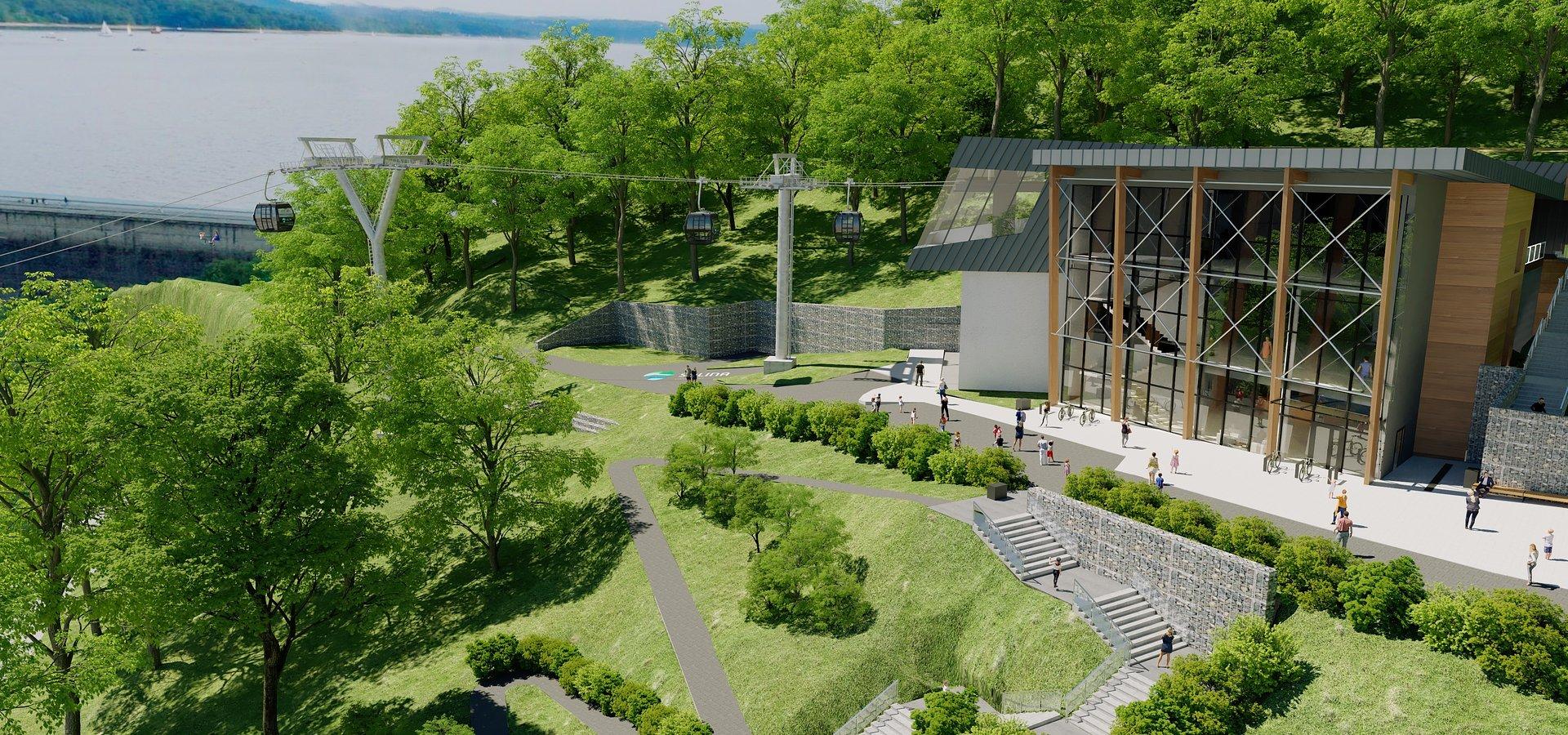 Polskie Koleje Linowe rozpoczęły budowę nowego ośrodka turystycznego i kolei widokowej nad zaporą w Solinie
