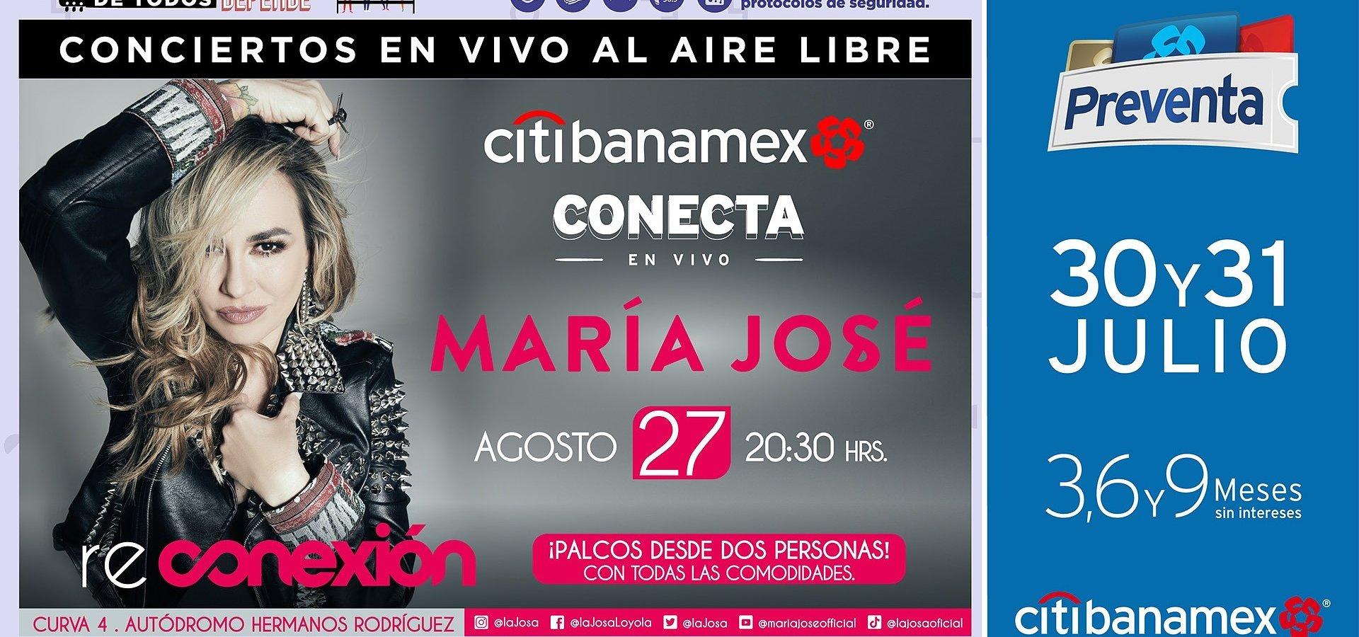 María José presentará su tour RE.CONEXION 2021 en la CDMX