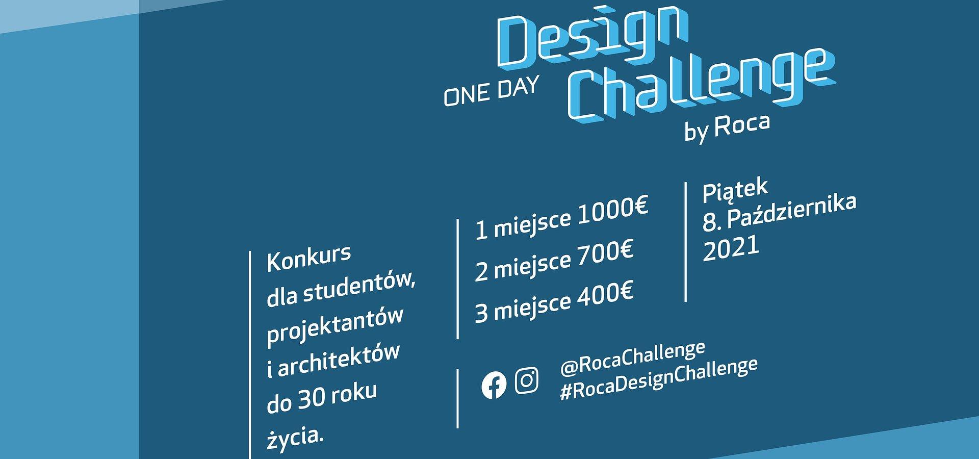 """""""Roca One Day Design Challenge"""" – III edycja konkursu dla młodych architektów i projektantów tym razem w formule online"""
