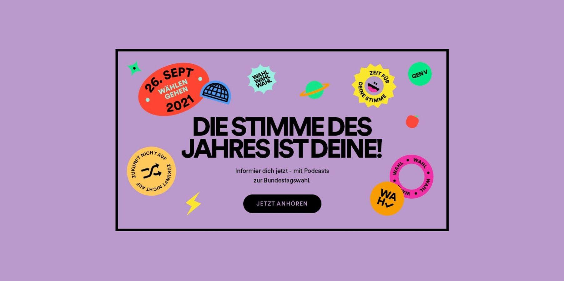 Spotify ruft zur Stimmabgabe bei der Bundestagswahl auf