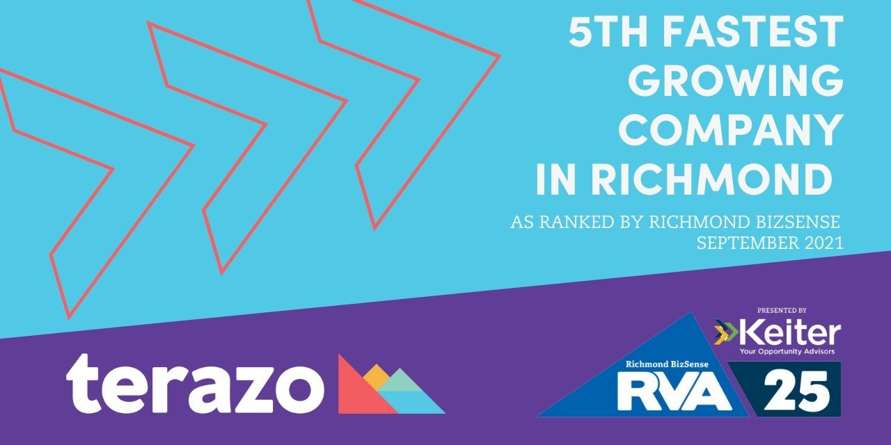 Terazo Ranks As Richmond's 5th Fastest Growing Company with 95% Growth Over Two Years
