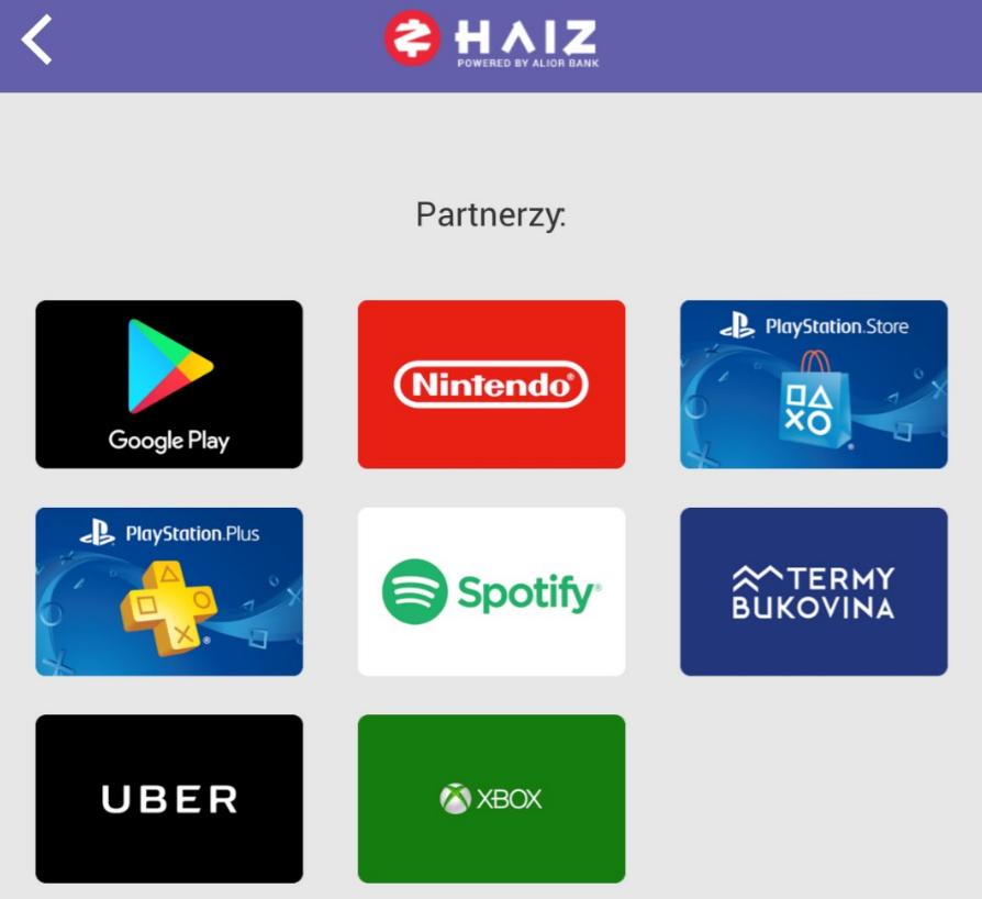 Mobilna platforma m-commerce otwarta  w bankowej aplikacji HAIZ