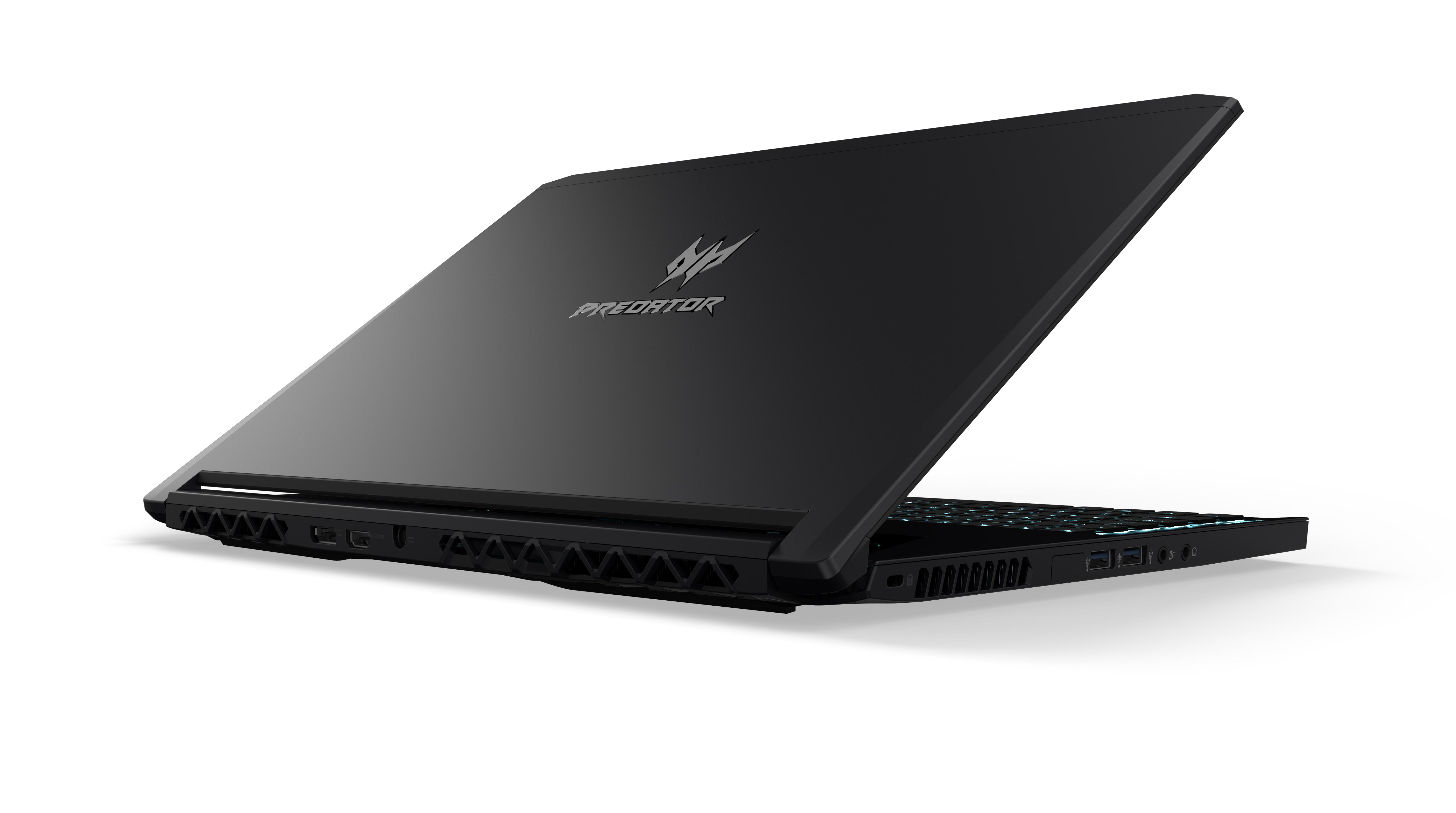 Wyjątkowo smukły notebook dla graczy, Acer Predator Triton 700, wyposażony w najnowszą kartę graficzną NVIDIA GeForce GTX 1080
