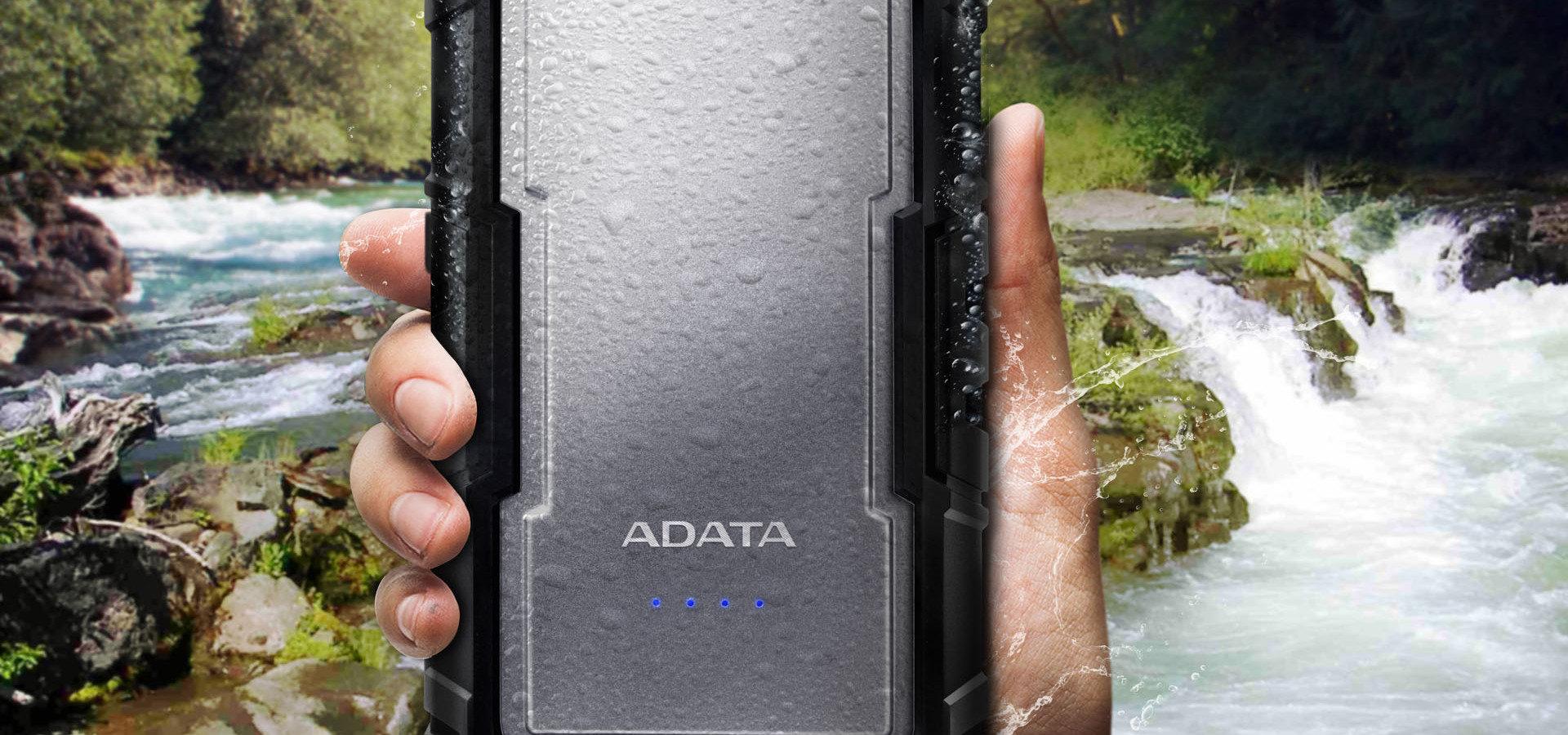 Powerbank ADATA D16750 - markowe ogniwa w wodoszczelnej obudowie