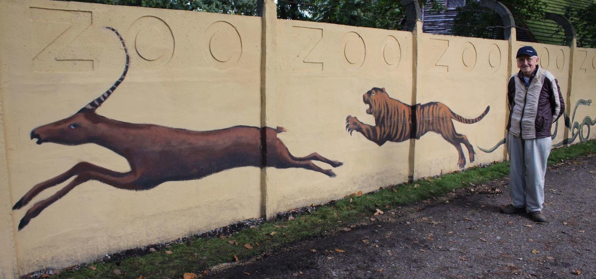 Mur(al) łączący pokolenia. Uroczyste odsłonięcie odrestaurowanego  malunku na murze wrocławskiego zoo
