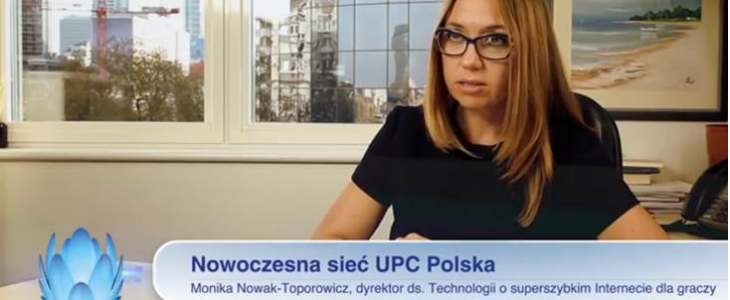 """Wkrótce rusza turniej """"powered by UPC Polska"""". Zobacz film Moniki Nowak-Toporowicz o nowoczesnej sieci UPC"""
