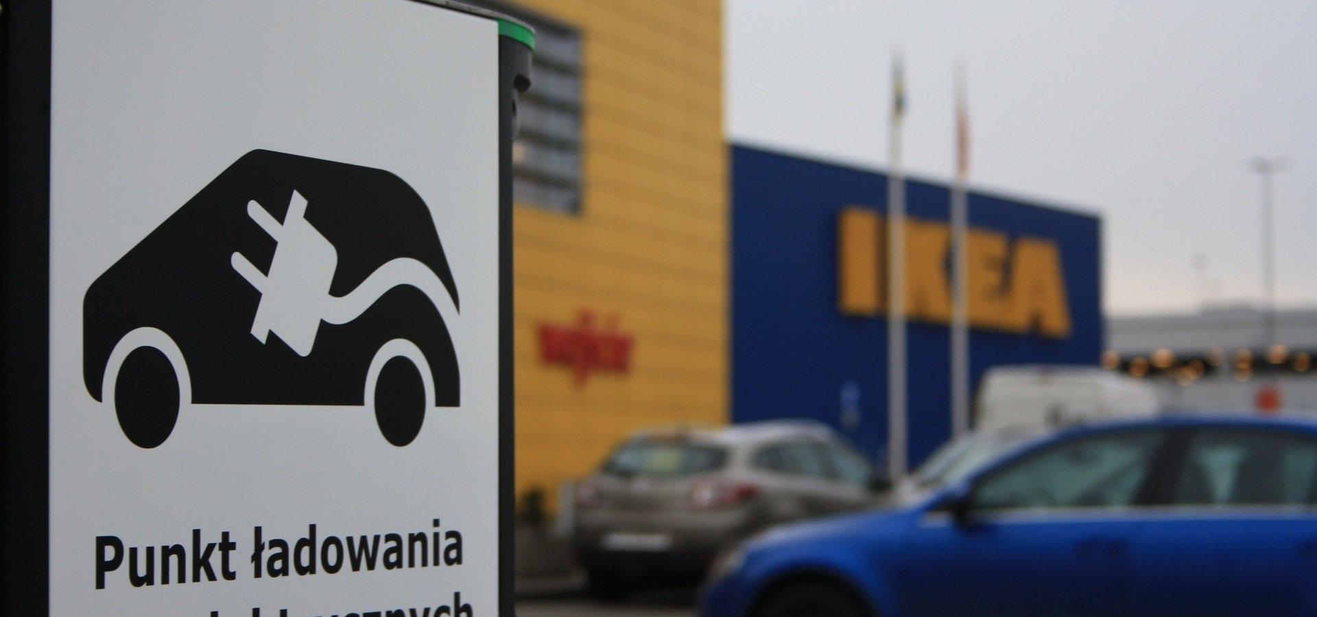 IKEA stawia stacje ładowania samochodów elektrycznych. Po Lublinie przyszła pora na Kraków