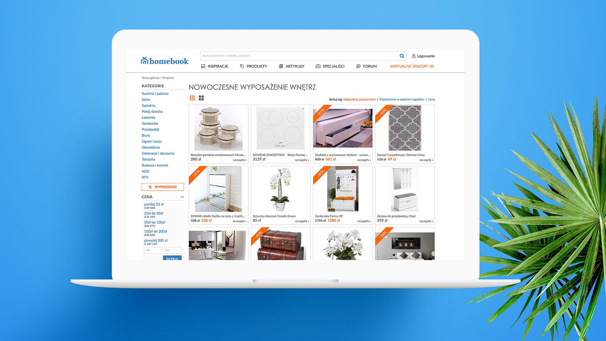 Odświeżony serwis Homebook. Nowe logo lidera w branży wnętrzarskiej