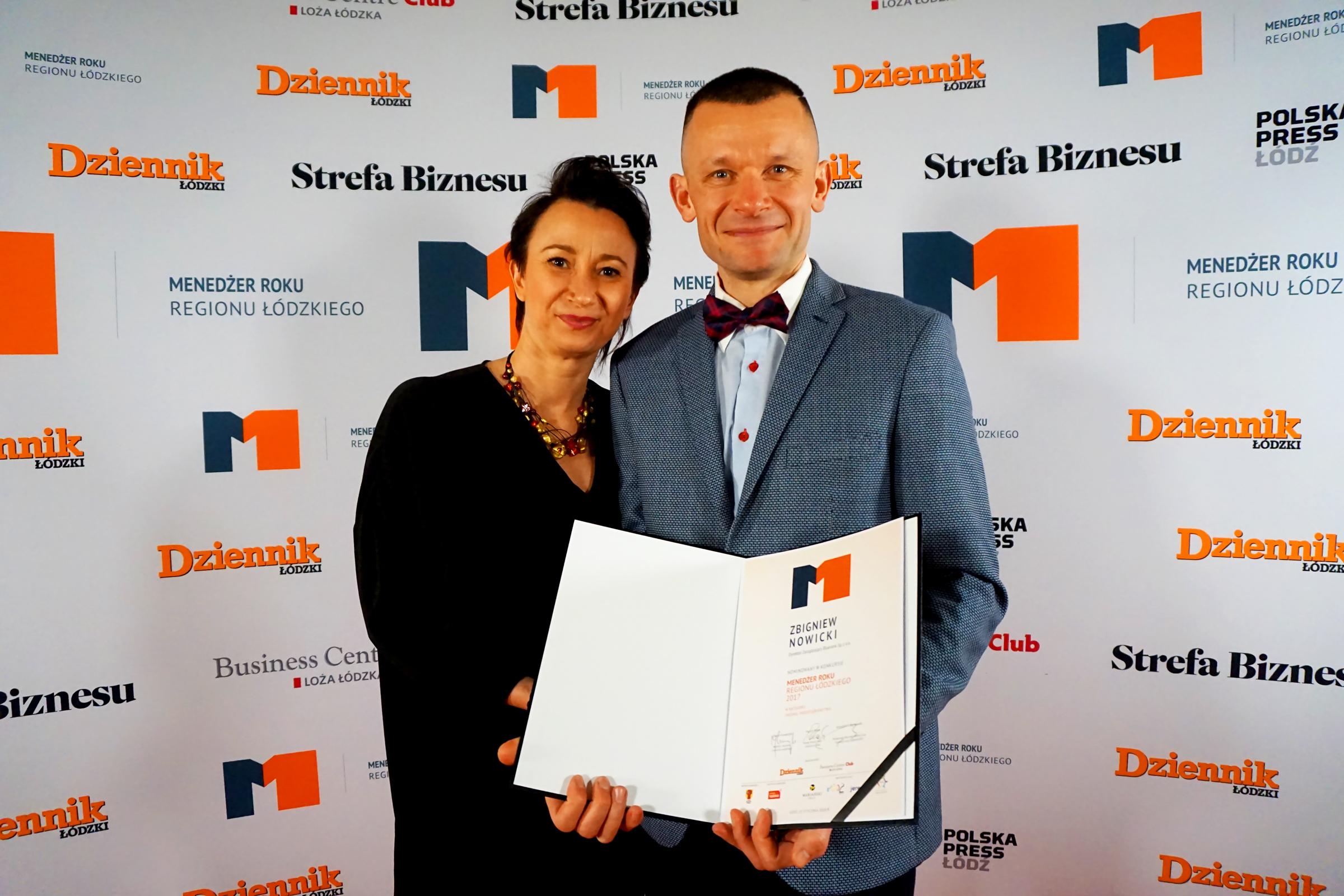 Zbigniew Nowicki wśród najlepszych menedżerów regionu łódzkiego