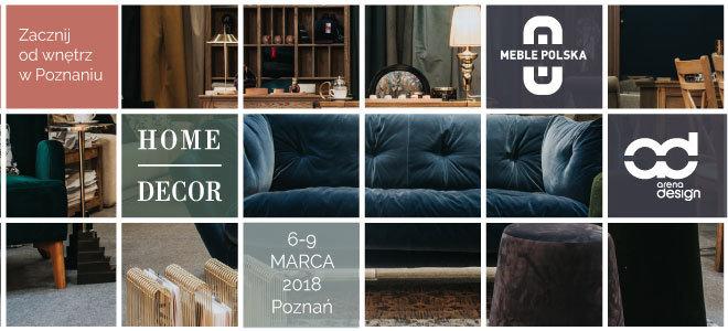 Zacznij od wnętrz w Poznaniu! Targi MEBLE Polska, Home Decor i arena DESIGN - Homebook Partnerem Medialnym