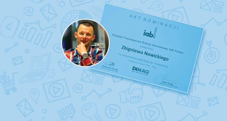 Zbigniew Nowicki w Branżowej Radzie ds. Kompetencji IAB Polska