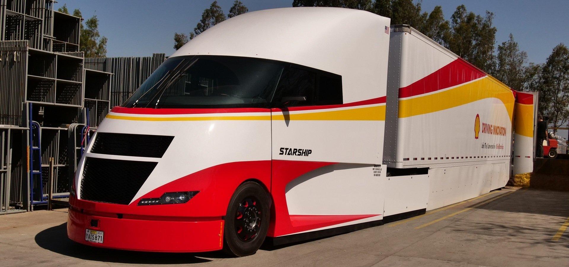 Starship – futurystyczna ciężarówka umożliwia zwiększenie efektywności przewozu jednostki ładunku o 248%