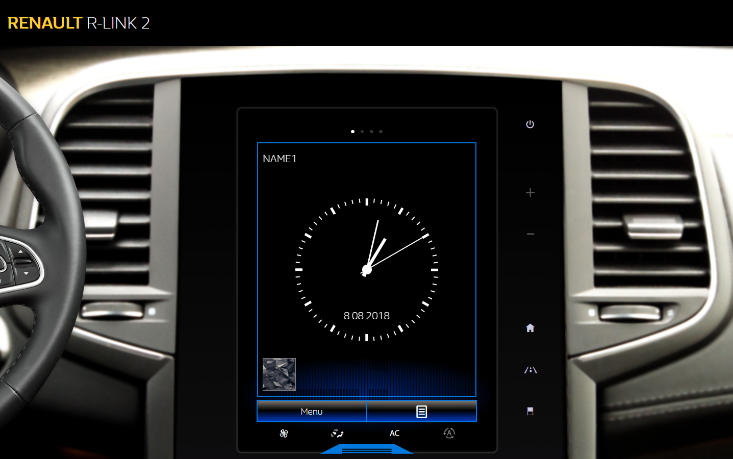 The new version of the R-link2 emulator web application for Renault