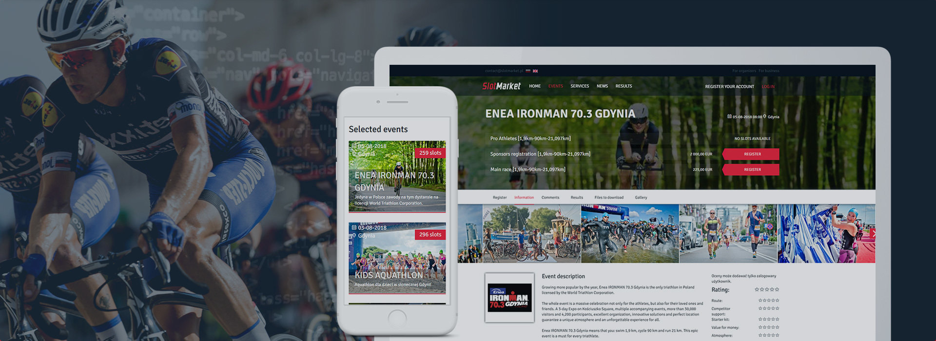 Sport events reservation platform - from Java to PHP with Love...