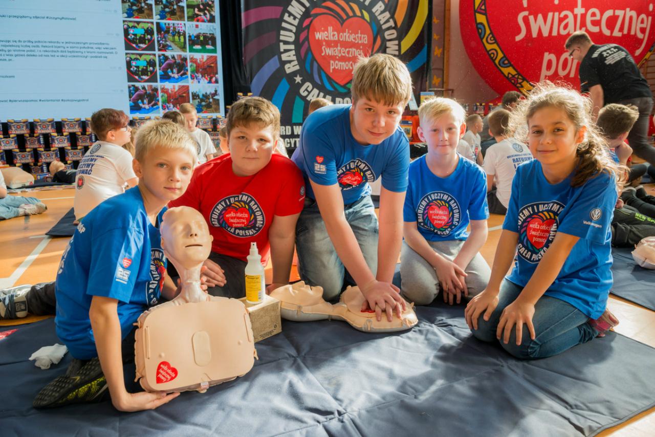 WOŚP chce pobić rekord w udzielaniu pierwszej pomocy