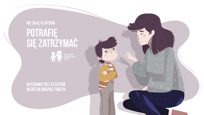 """Wychowuj bez klapsów! Rusza nowa kampania Fundacji Dajemy Dzieciom: """"Potrafię się zatrzymać""""!"""