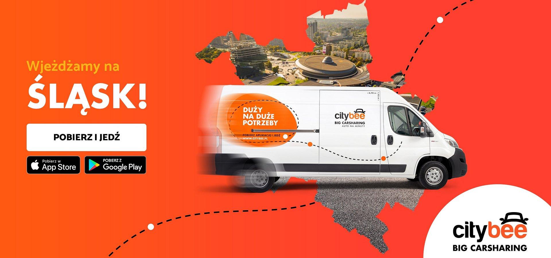 CityBee dostępne na Śląsku! Startuje wynajem dostawczaków na minuty