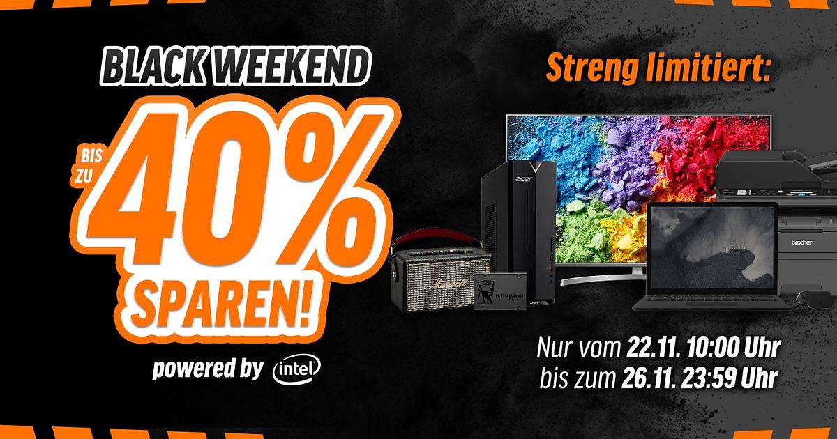 Bereits ab Donnerstag – 5 Tage Black Weekend Powershoppen beinotebooksbilliger.de