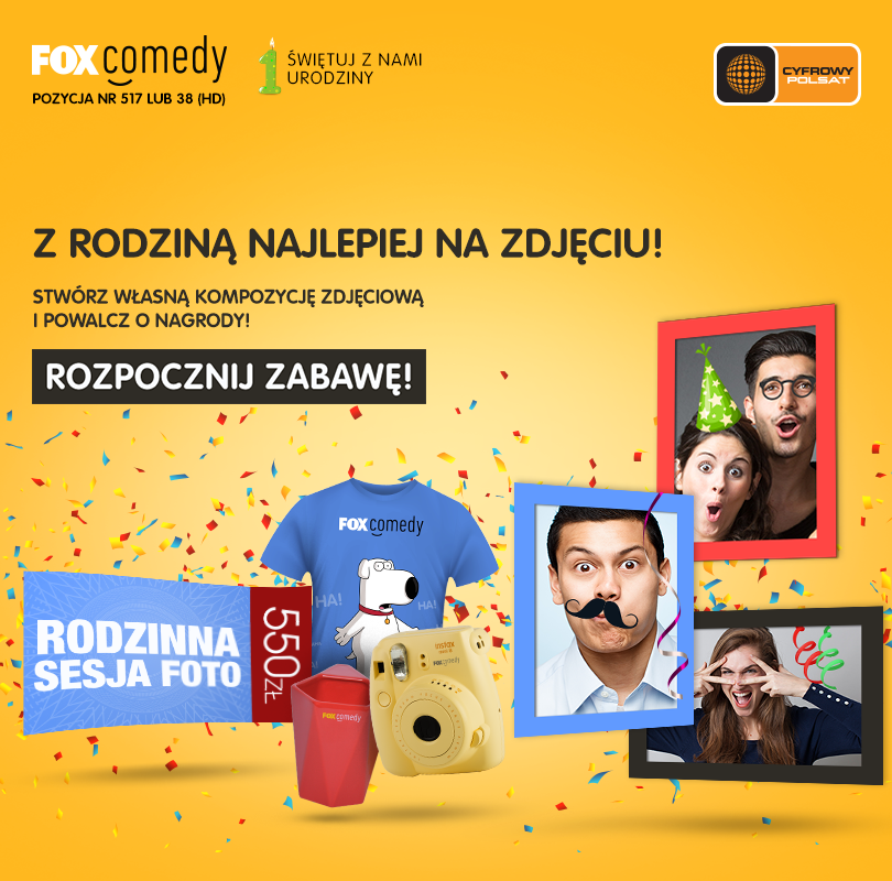 FOX Comedy i Cyfrowy Polsat świętują pierwsze urodziny kanału!