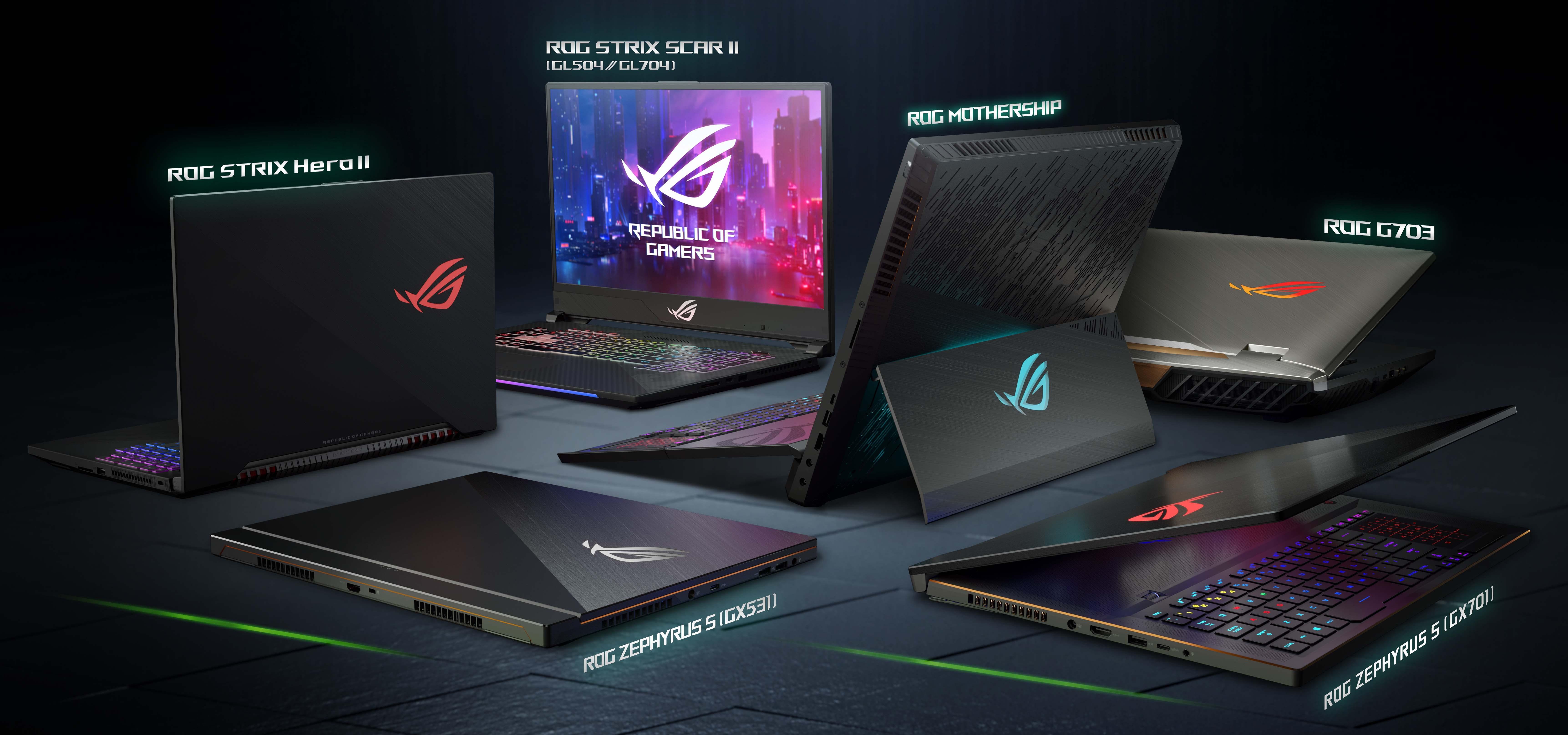 ASUS Republic of Gamers prezentuje najnowszą serię laptopów gamingowych na targach CES 2019