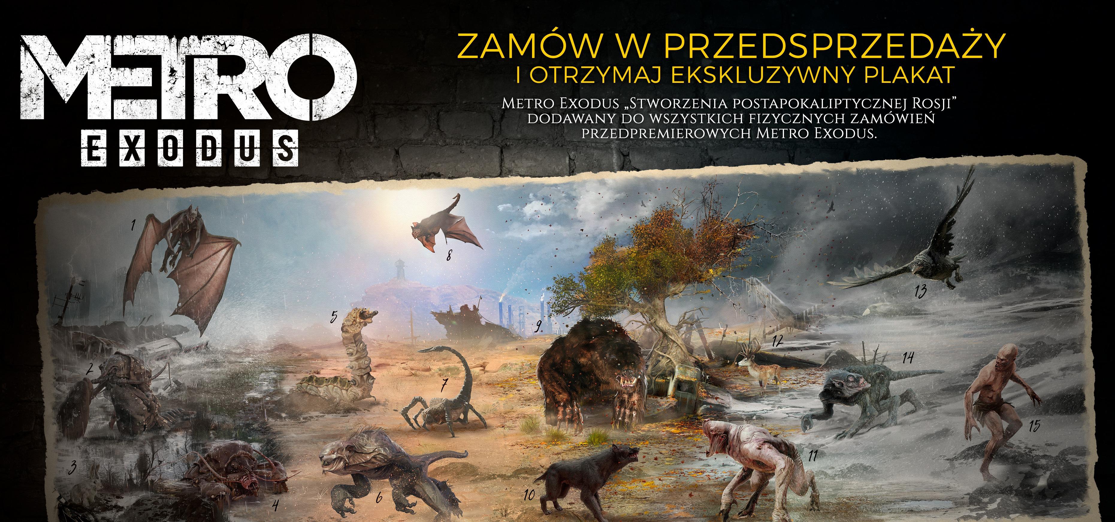 Zamów Metro Exodus przed premierą i otrzymaj ekskluzywny plakat