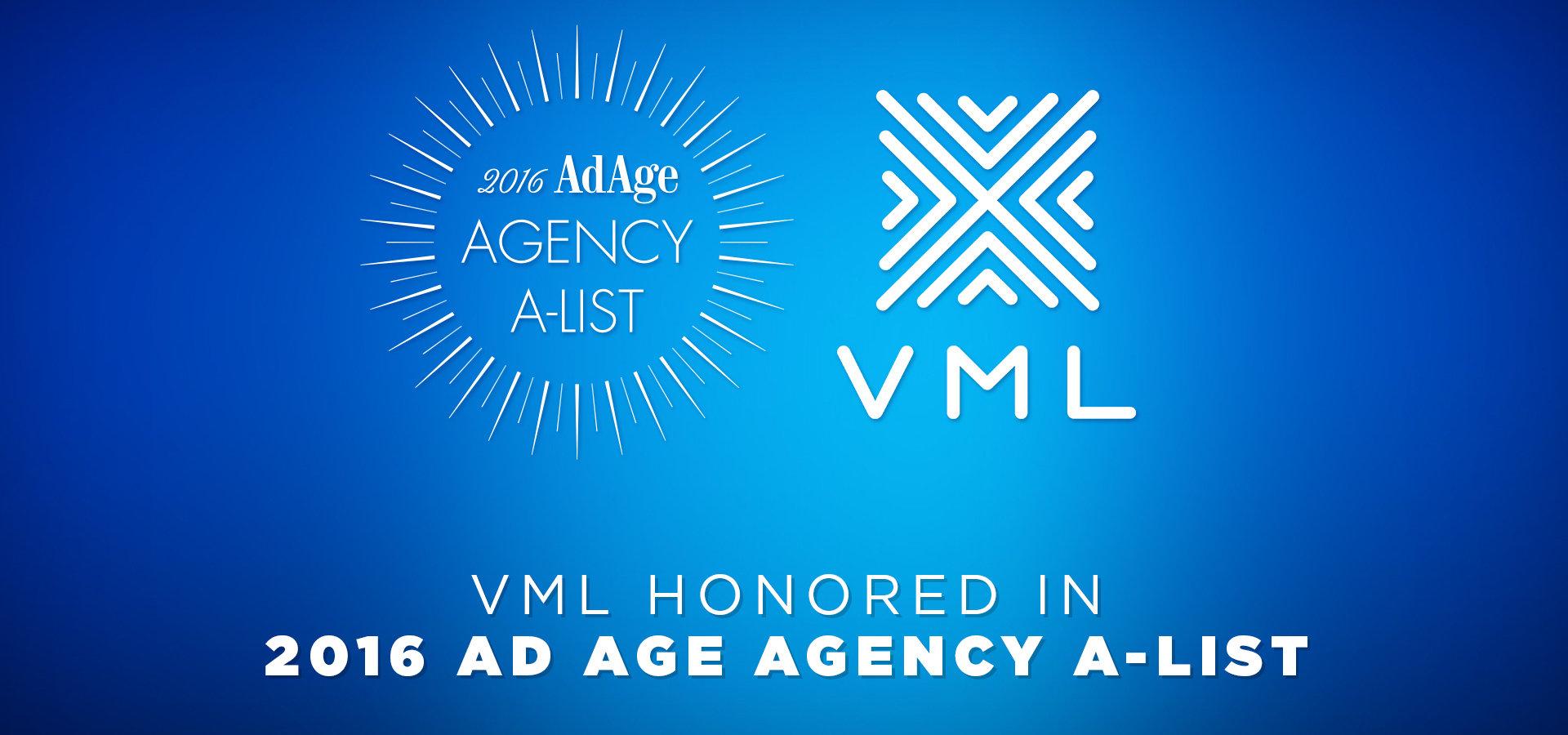 """VML wśród 10 najlepszych agencji reklamowych świata według """"Advertising Age"""" 2016 Agency A-List"""