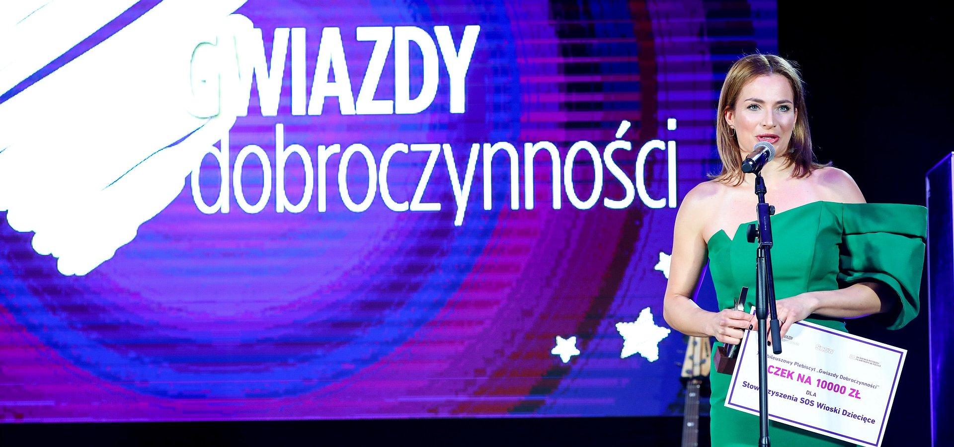 Anna Dereszowska laureatką Gwiazd Dobroczynności w kategorii społeczeństwo
