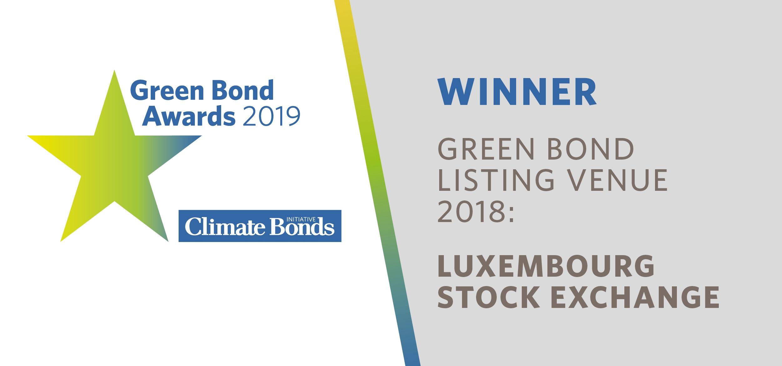 Luxembourg Stock Exchange wins 2019 Green Bond Pioneer Award