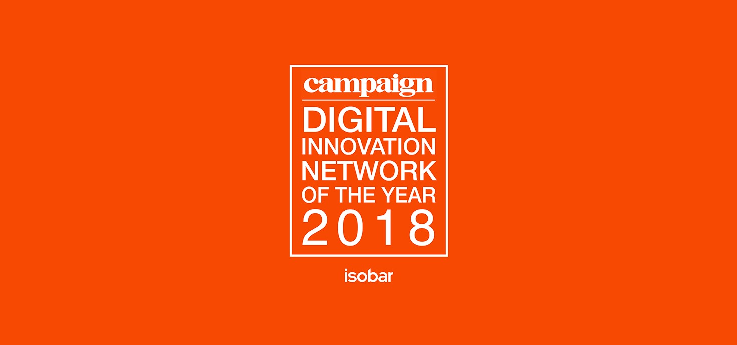 "Isobar z tytułem ""EMEA Digital Innovation Network of the year 2018"" magazynu Campaign"
