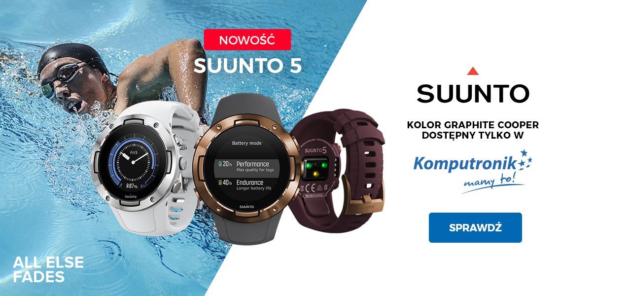 Premiera Sunnto 5 z GPSMultisportowy zegarek gotowy na wyzwania!d