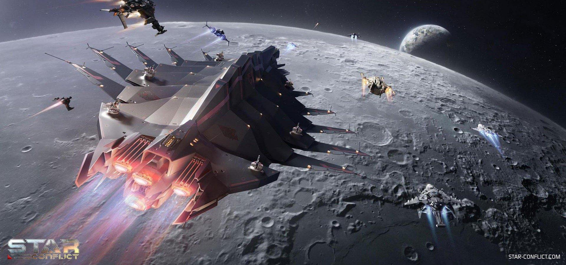 Star Conflict oslavuje výročie pristátia na mesiaci so špeciálnou hernou udalostou, kde sa dá získat vesmírna loď zadarmo, a tiež nové PvE misie
