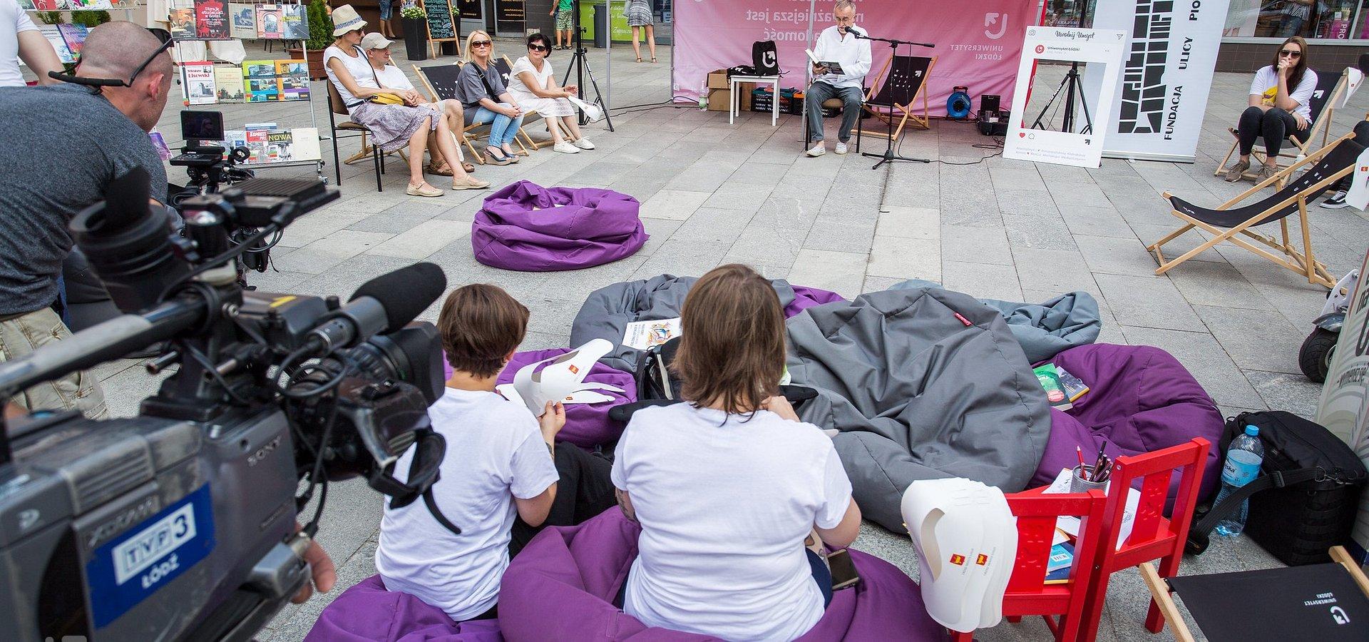 """""""Żywe Audiobooki"""" UŁ na 596. Urodziny Łodzi"""
