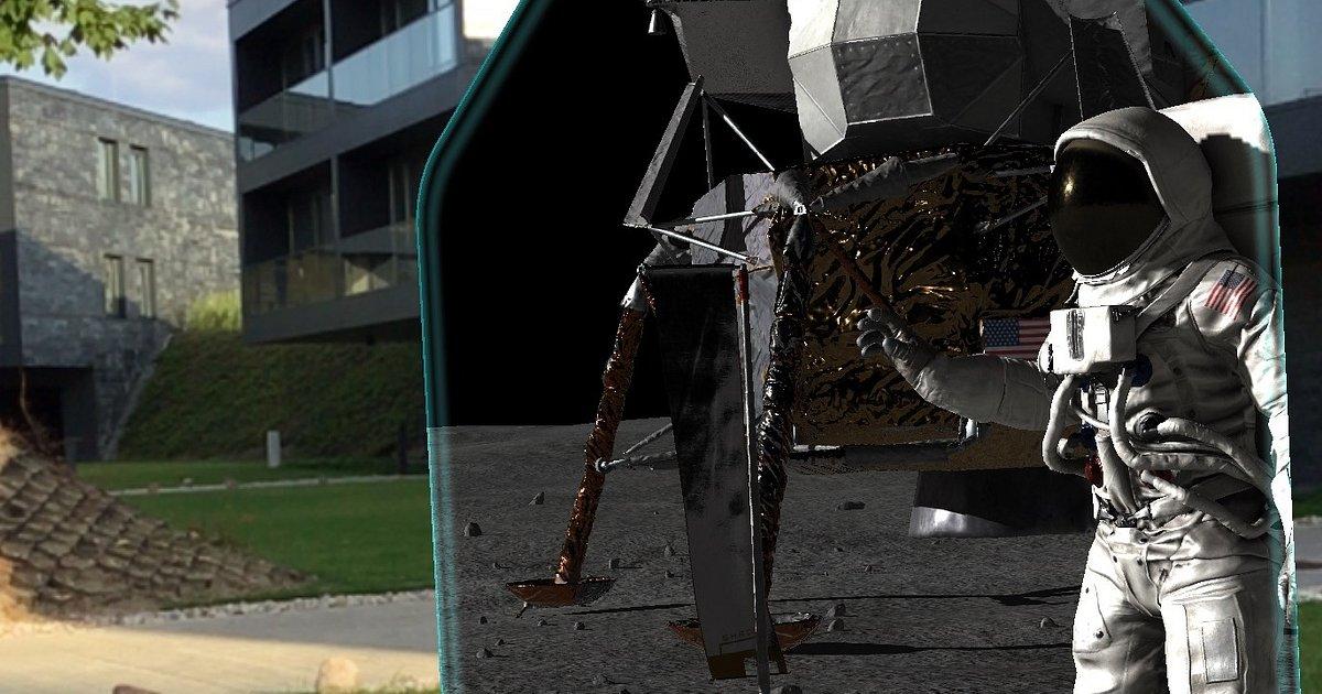 Pierwszy krok na Księżycu za pomocą smartfonu – Polski startup współpracując z NASA, stworzył aplikację AR na 50 rocznicę lądowania na Srebrnym Globie