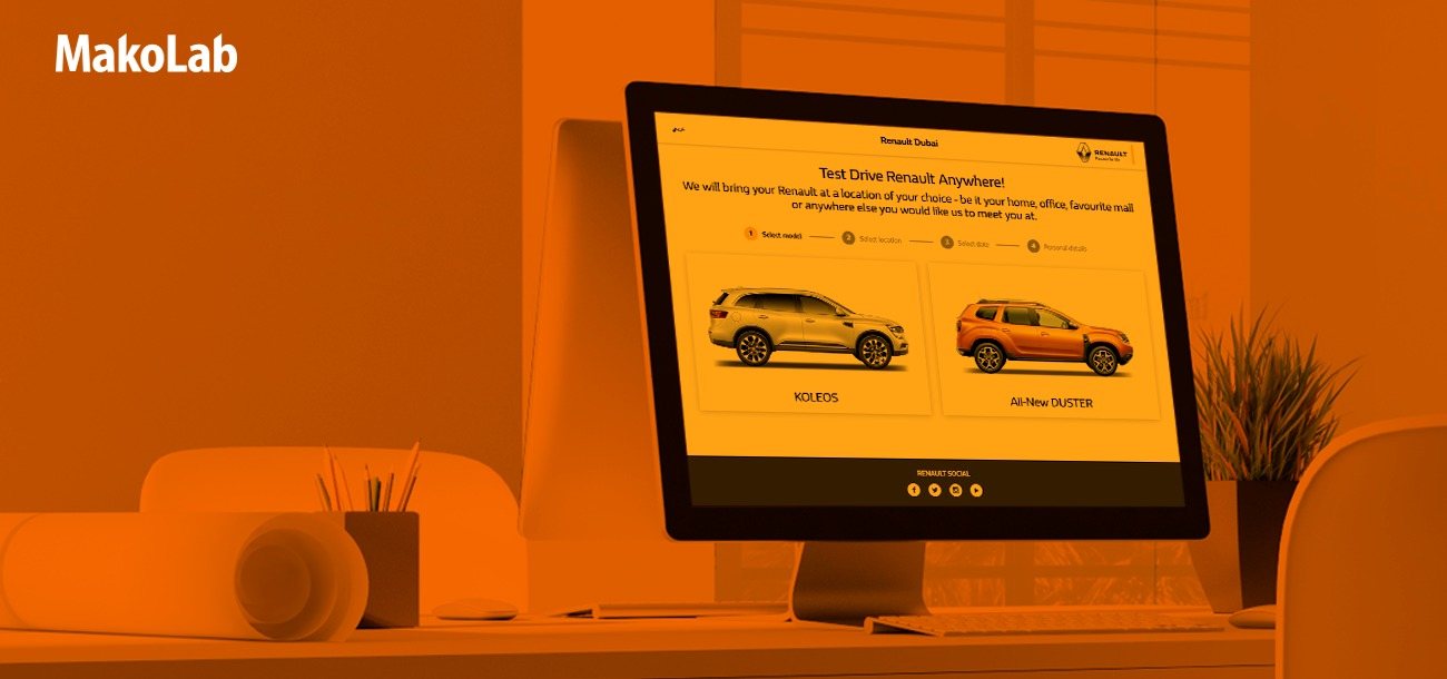 Test Drive Renault Anywhere - new websites for booking test drives for Renault Middle East