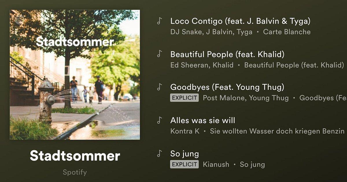 Personalisierte Playlists mit Hits der letzten Sommer
